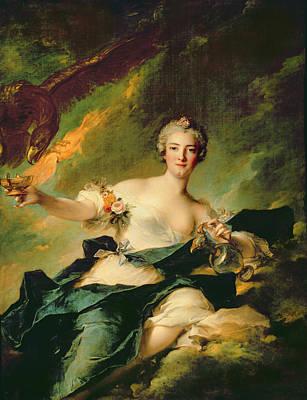 A Portrait Of Anne Josephe Bonnnier De La Mossau  Print by Jean Marc Nattier