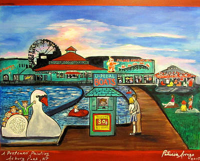 Asbury Park Painting - A Postcard Memory by Patricia Arroyo
