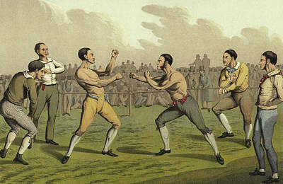 A Prize Fight Print by Henry Thomas Alken