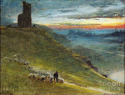 Historical Buildings Painting - A Prospect Of Edinburgh From The East by Celestial Images