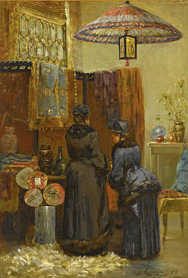 Painting - A Quaint Oriental Shop by Elliott Daingerfield