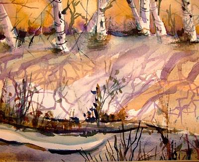 Creek Drawing - A Quiet Light by Mindy Newman