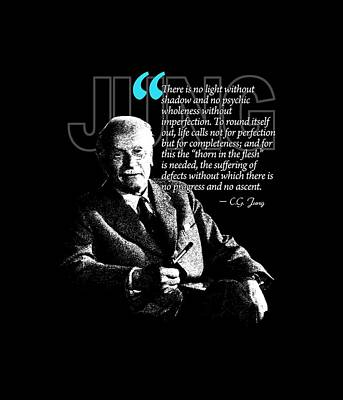 A Quote From Carl Gustav Jung Quote #21 Of 50 Available Print by Garaga Designs
