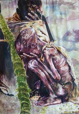 A Reflection On Human Suffering Print by Michael African Visions