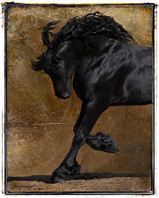Stallion Digital Art - A Regal Bow by Jean Hildebrant