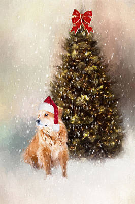 Golden Retriever Photograph - A Retriever Kind Of Christmas by Darren Fisher