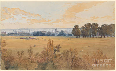 Hyde Park Painting - A Review In Hyde Park Watercolor On Paper by MotionAge Designs