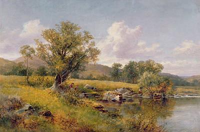 1921 Painting - A River Landscape by David Bates