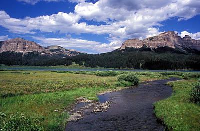A River Runs Through Wyoming Print by Kathy Yates
