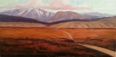 Distant Mountains Painting - A Road Less Traveled by Billie Colson