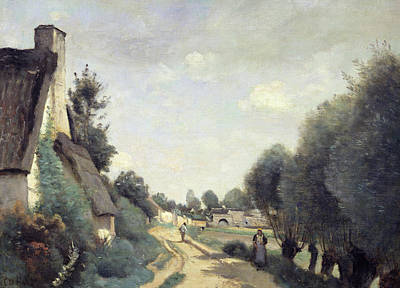 Ou Painting - A Road Near Arras by Jean Baptiste Camille Corot