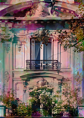 Magenta Photograph - A Romantic Balcony by Carla Parris