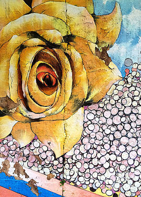 Mural Mixed Media - A Rose By Any Other Name by Terry Rowe