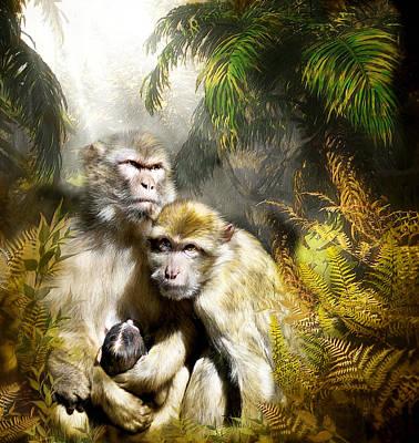 Ape Mixed Media - A Sacred Place by Carol Cavalaris