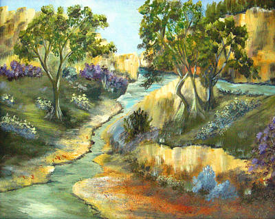 Abstract Realism Painting - A Sandy Place To Rest by Ruth Palmer