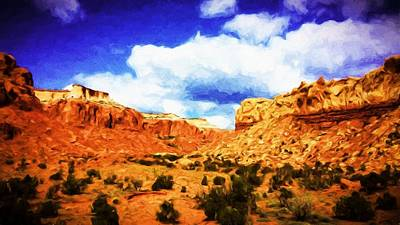 Pinion Painting - A Scene From Abiquiu by Jim Buchanan