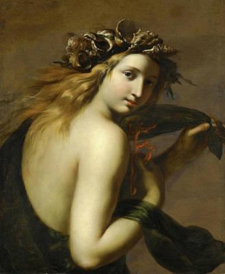 Ginevra Cantofoli Painting - A Sea-nymph Possibly Galatea by Ginevra Cantofoli