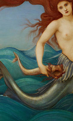 Sea Nymph Painting - A Sea Nymph by Sir Edward Burne-Jones