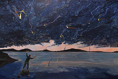 Painting - A Sea Of Thoughts by Lazaro Hurtado