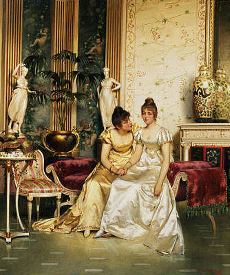 Regency Painting - A Shared Confidence by Joseph Frederick Charles Soulacroix