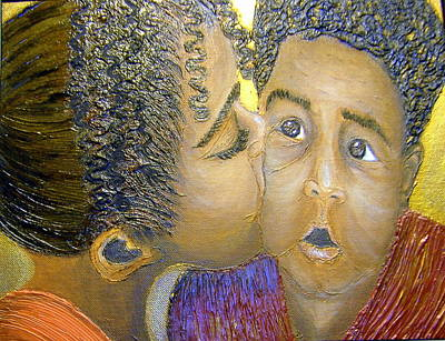 Keenya Woods Mixed Media - A Sisters Love by Keenya  Woods