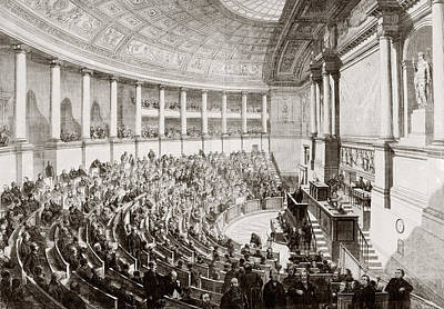Democracy Drawing - A Sitting Of The French Legislature In by Vintage Design Pics