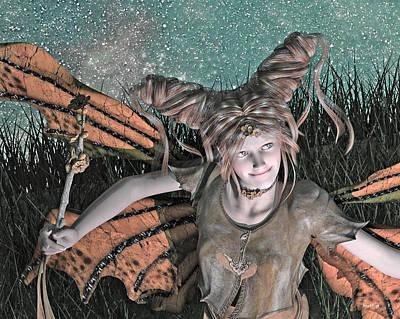 Elf Digital Art - She Belongs -- With  by Betsy C Knapp
