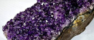 Photograph - A Slice Of Amethyst by Mary Deal