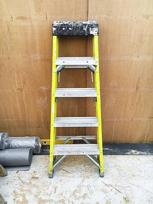 Messy Photograph - A Small Stepladder by Tom Gowanlock