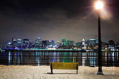 Montreal Cityscapes Photograph - A Snowy Night In Montreal  by Jane Rix