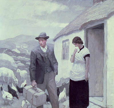 Weeping Drawing - A Son Of His Father  by Newell Convers Wyeth