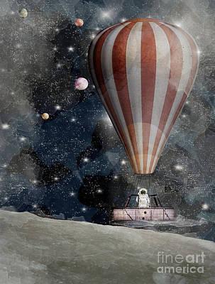 Astronauts Digital Art - A Space Adventure by Bri B