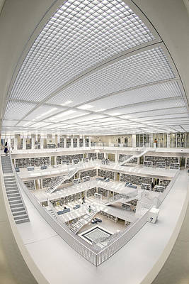 Library Photograph - A Space Of Knowledge by Fahad Abdulhameed