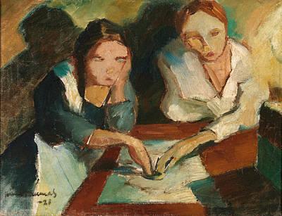 Vaino Kunnas Painting - A Spiritualistic Seance by Vaino Kunnas