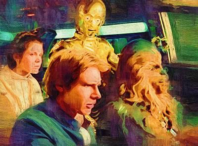 A Star Wars Poster Print by Michael Vicin