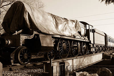 A Steam Train Under The Covers Print by Steven Sexton