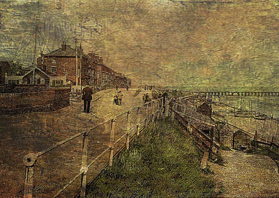Digital Art - A Stroll Along The Seafront by Sarah Vernon