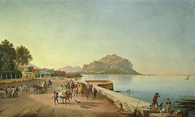 Franz Ludwig Catel Painting - A Stroll In Palermo by Franz Ludwig Catel