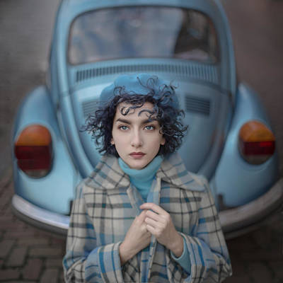 Fashion Photograph - A Study In Blue by Anka Zhuravleva