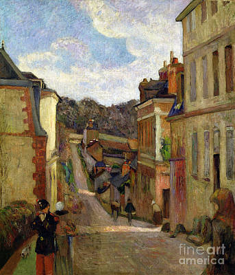 Rue Painting - A Suburban Street by Paul Gauguin