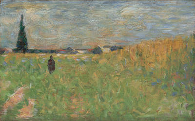 A Summer Landscape Print by Georges Seurat