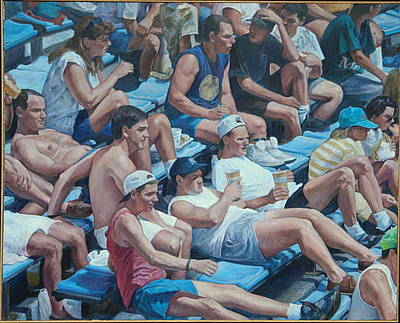 Painting - A Sunday Crowd by James Sparks