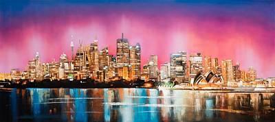 Sydney Skyline Painting - A Sydney Jewel by Niphon
