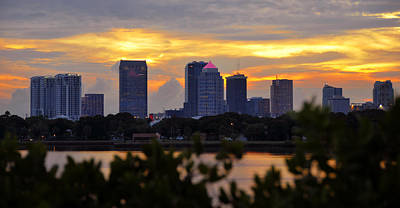 A Summer Evening Landscape Photograph - A Tampa Summer Evening by David Lee Thompson
