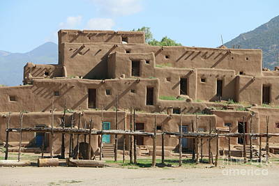 A Taos Pueblo Building  Print by Christiane Schulze Art And Photography