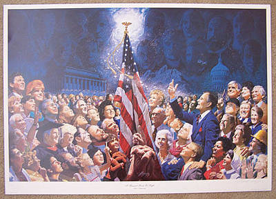 George Bush Painting - A Thousand Points Of Light by Frank Hopper