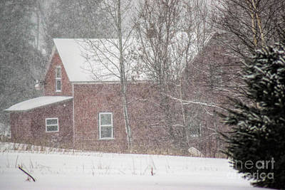Maine Farmhouse Photograph - A Thousand Snowstorms by William Tasker