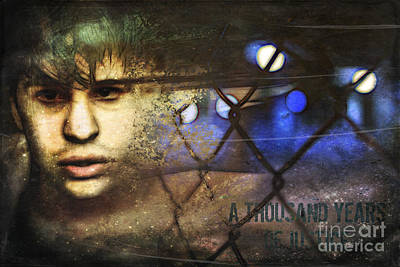 Soulful Eyes Digital Art - A Thousand Years Of Justice by Caroline Julia Moore