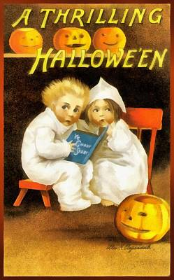 A Thrilling Halloween Print by Unknown