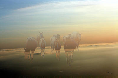 A Touch Of Horse Heaven Print by Andrea Lawrence